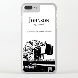 Johnson Street Bridge (Train Wreck) Clear iPhone Case