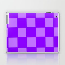 Pure and Light Violet Checker Background Laptop & iPad Skin