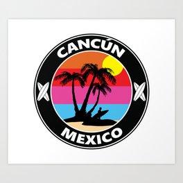 Surf Cancun Mexico Art Print