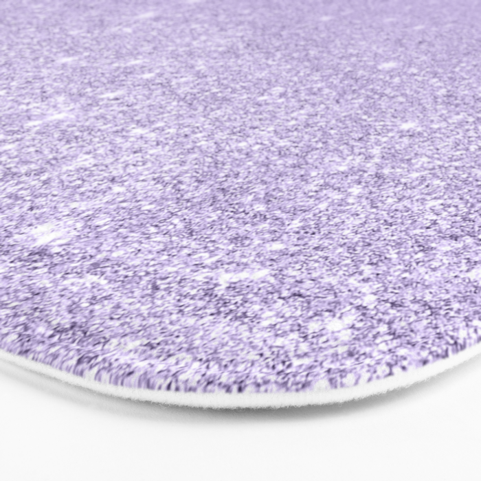 11038e51868e20 Stylish purple lavender glitter ombre color block Bath Mat by girlytrend |  Society6