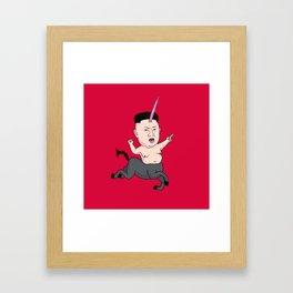 Kim Jong Unicorn Framed Art Print