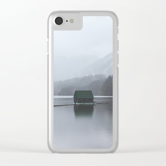 Lone Cabin Clear iPhone Case