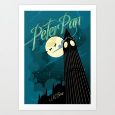 Peter Pan by J.M. Barrie Art Print