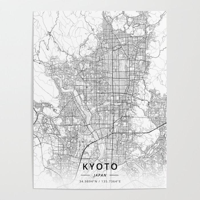 Kyoto, Japan - Light Map Poster by designermapart on maizuru japan map, yakushima japan map, okinawa japan map, nara japan map, osaka castle, toba japan map, yamato japan map, mount fuji, kobe japan map, mt. fuji japan map, nagasaki japan map, koyasan japan map, hiroshima map, kamakura japan map, edo japan map, osaka japan map, atsugi japan map, sea of japan map, agra map, capital of japan, bali indonesia map, sapporo japan map, himeji castle, yokohama japan map,