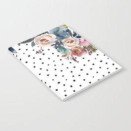 Boho Flowers and Polka Dots Notebook