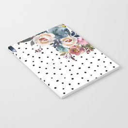Boho Flowers and Polka Dots Notebook