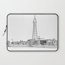 Blackpool Line Art Landscape Laptop Sleeve