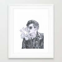 alex turner Framed Art Prints featuring Alex Turner by Anja-Catharina