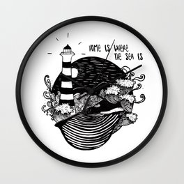 Home is where the sea is Wall Clock