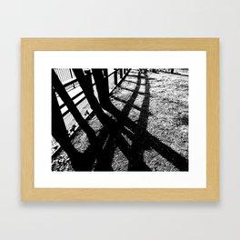 shadow trees Framed Art Print