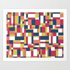 Map Matisse #1 Art Print