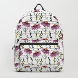 Modern Coneflower Pattern Backpack