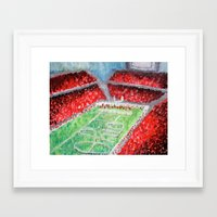 ohio state Framed Art Prints featuring Ohio State Buckeyes by Emily Kenney