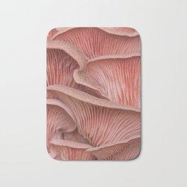Pink oyster mushroom pleurotus Bath Mat