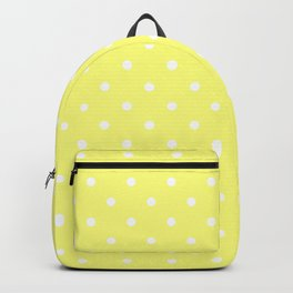 Butter Yellow Polka Dots Backpack