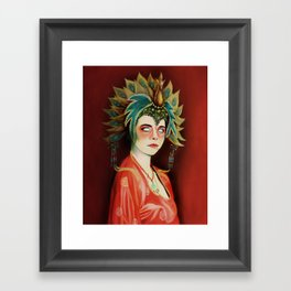 Big Trouble In Little China Kim Cattrall As Gracie Law Oil Painting on Canvas Framed Art Print