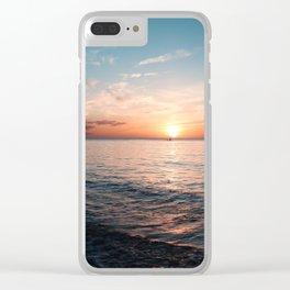 Hawaii sunset Clear iPhone Case