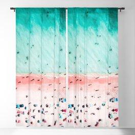 Ocean Print, Pink Beach Print, Bondi Beach, Art Print, Ocean Poster Print, Beach Print, Wall Decor Blackout Curtain