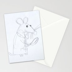 Mouse Scientist  Stationery Cards