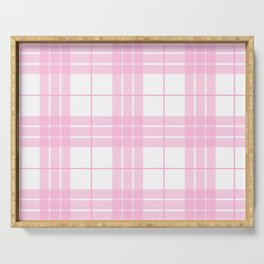 Pink Plaid Serving Tray