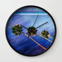 palms Wall Clocks featuring Palms by Psocy Shop