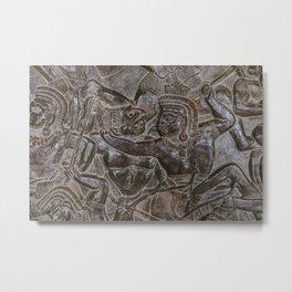 Stories in Stone - Angkor Wat Temple Metal Print
