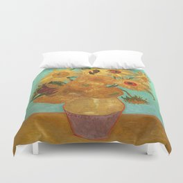 Vincent Van Gogh Twelve Sunflowers In A Vase Duvet Cover