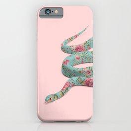 FLORAL SNAKE iPhone Case