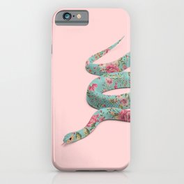 FLORAL SNAKE iPhone Case