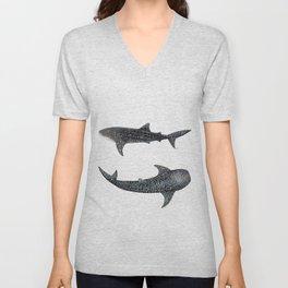 Whale sharks Unisex V-Neck