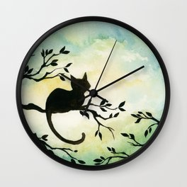 Lily Sitting in the Center of the Sky Wall Clock