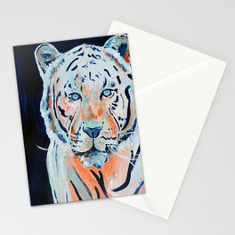 Blue and Orange Tiger Stationery Cards