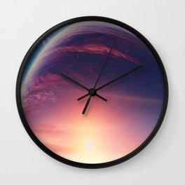 Jupiterian sunset Wall Clock
