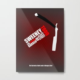 Sweeney Todd - Minimalist Word Cloud Metal Print