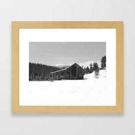 Aspen Plank Barn Framed Art Print