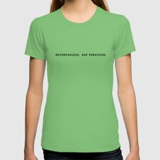 She persisted. Womens Fitted Tee SMALL Grass