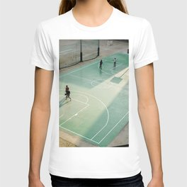 field and basketball players T-shirt