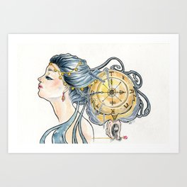 Wheel of Fortune Tarot Card Art Print
