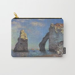 Claude Monet's The Cliffs at Etretat Carry-All Pouch