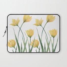 Yellow Woodland Tulips Laptop Sleeve
