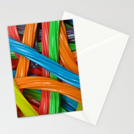 Colorful licorice candy Stationery Cards