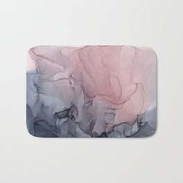 Blush and Gray Flowing Ombre Abstract 1 Bath Mat