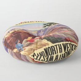 Vintage poster - Grand Canyon Floor Pillow