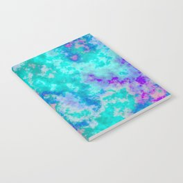 Turquoise and purple cloud art Notebook