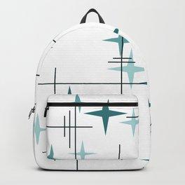 Mid Century Modern Stars (Teal) Backpack