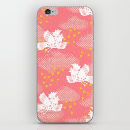 Rain Birds - Pink iPhone Skin
