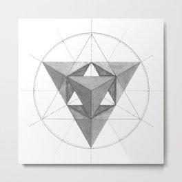 Glass Heart Metal Print