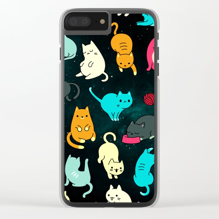 Kitty Space Clear iPhone Case