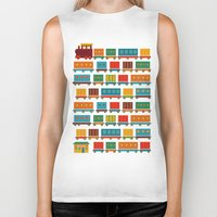 train Biker Tanks featuring Train by Kakel