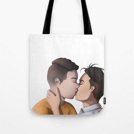 Kissing (no BG) Tote Bag